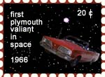 first plymouth valiant in space