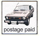postage paid by datsun corporation